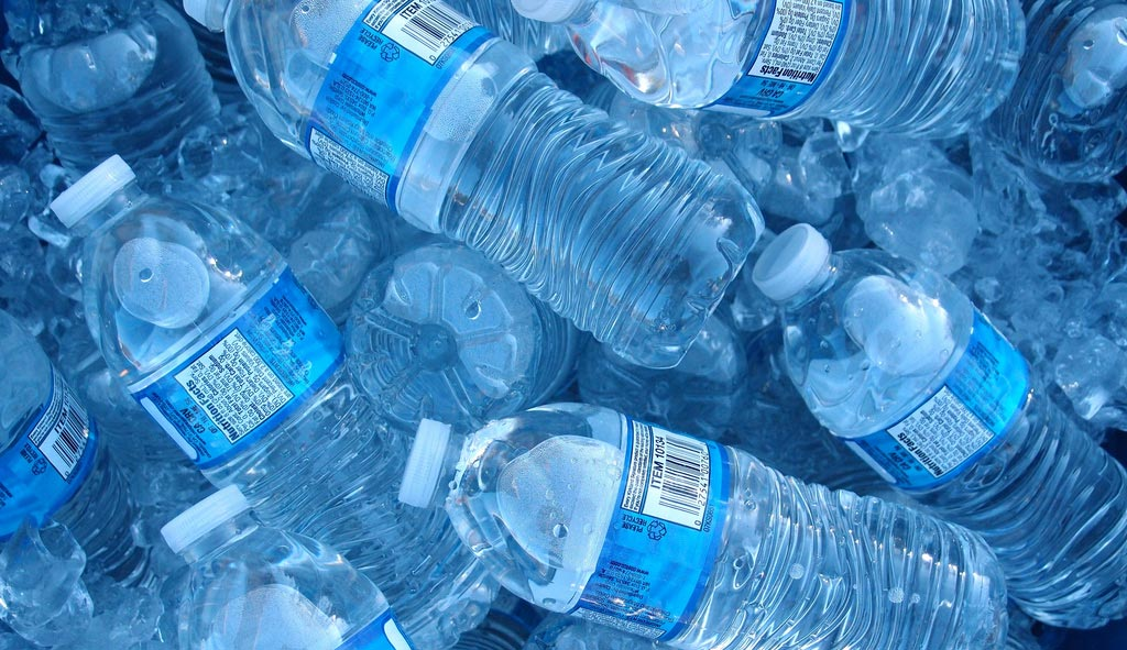 photo of a group of water bottles