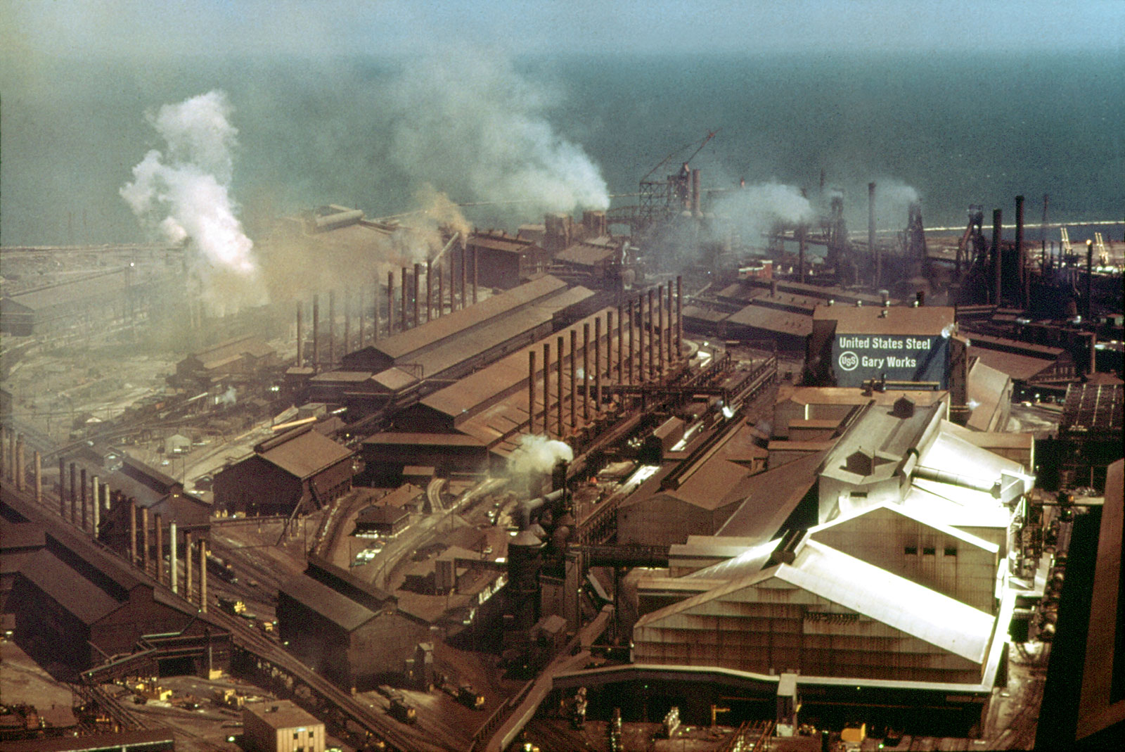 Gary Works steel mill in 1973