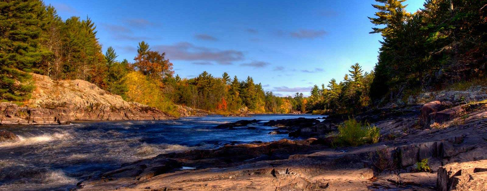 The Menominee River in fall